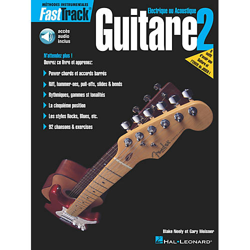 Hal Leonard FastTrack Guitar Method - Book 2 - French Edition BK/CD by Blake Neely-thumbnail