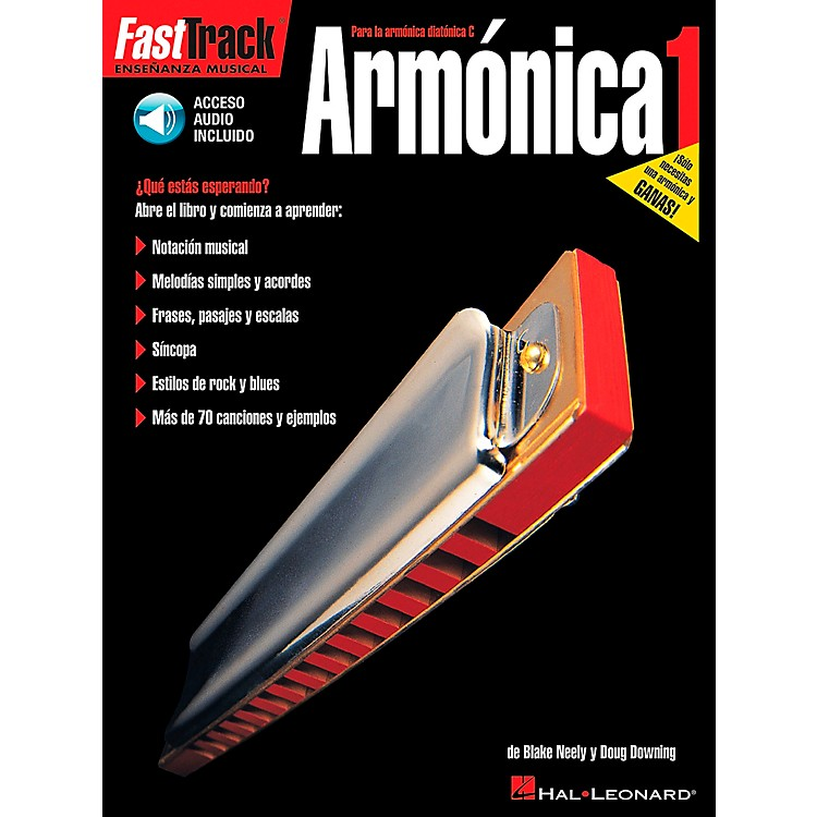 Hal Leonard FastTrack Harmonica Method Book 1 Book/CD - Spanish Edition