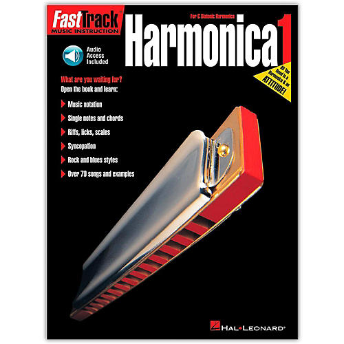 Hal Leonard FastTrack Harmonica Method (Book/Online Audio)-thumbnail