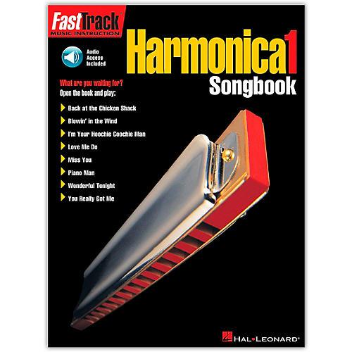 Hal Leonard FastTrack Harmonica Songbook - Level 1 (Book/Online Audio)-thumbnail
