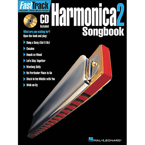 Hal Leonard FastTrack Harmonica Songbook 1 Level 2 Book/CD