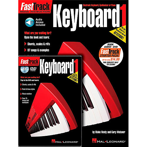 Hal Leonard FastTrack Keyboard Method Starter Pack - Includes Book/CD/DVD
