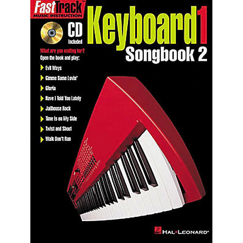 Hal Leonard FastTrack Keyboard Songbook 2 - Level 1 Book with CD
