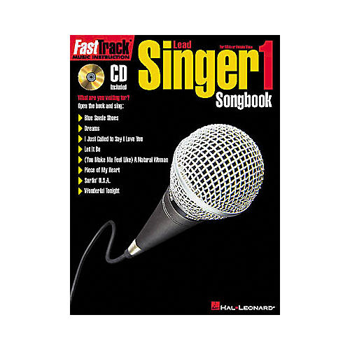 Hal Leonard FastTrack Lead Singer Songbook 1 - Level 1 Book/CD