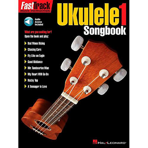 Hal Leonard FastTrack Ukulele Songbook-Level 1 Book/Audio Online-thumbnail