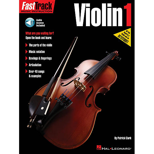 Hal Leonard FastTrack Violin Method Book 1 Fast Track Music Instruction Softcover Audio Online by Patrick Clark-thumbnail