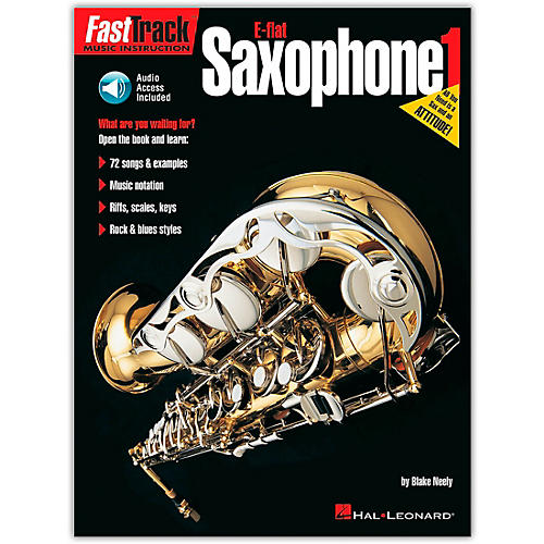 Hal Leonard FastTrack for E Flat Alto Saxophone Book 1 (Book/Online Audio)