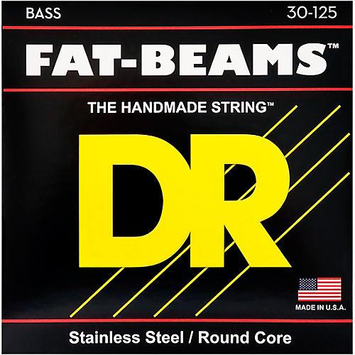 DR Strings Fat-Beams Stainless Steel Medium 6-String Bass Strings (30-125)