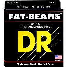 DR Strings Fat-Beams Stainless Steel Medium-Lite 4-String Bass Strings (45-100)