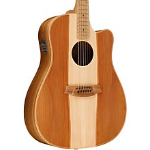 Cole Clark Fat Lady 2 Series Australian Eco Redwood/Blackwood Dreadnought Acoustic-Electric Guitar Natural