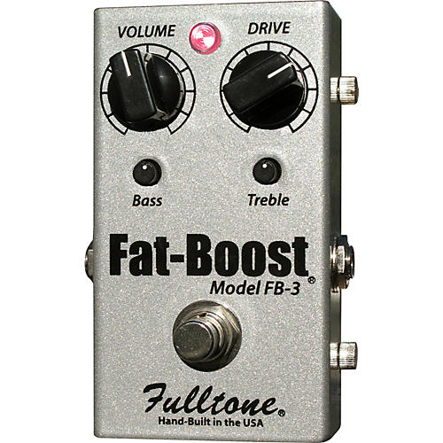Fulltone FatBoost 3 FB-3 Guitar Effects Pedal Silver