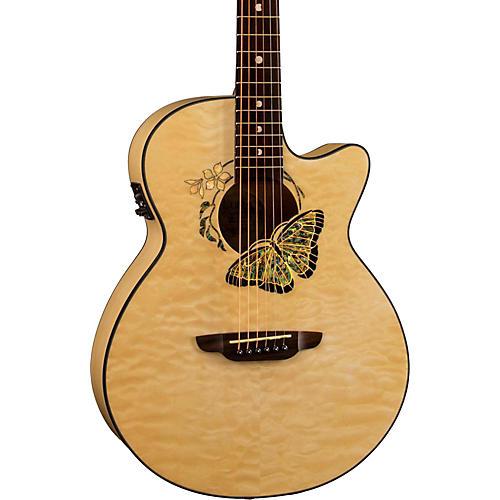 Luna Guitars Fauna Butterfly-Acoustic Electric Guitar-thumbnail