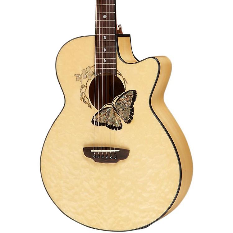 Luna GuitarsFauna Butterfly Acoustic-Electric GuitarTrans Natural
