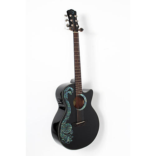 Luna Guitars Fauna Dragon Folk Acoustic-Electric Guitar-thumbnail
