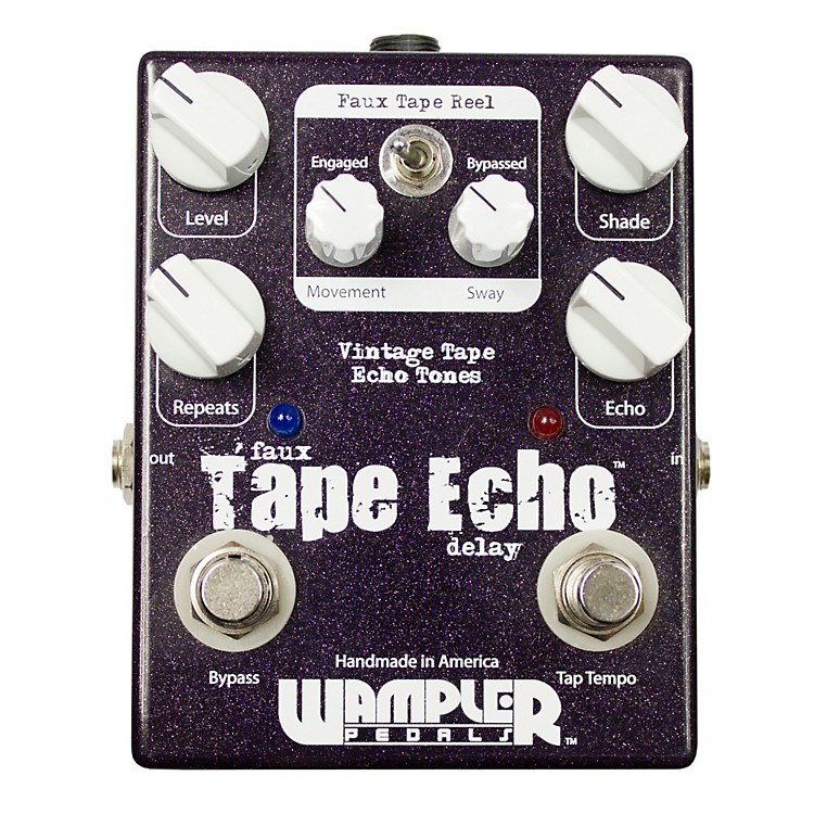 WamplerFaux Tape Echo/Delay With Tap Temp Guitar Effects Pedal