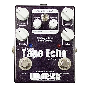 wampler faux tape echo delay with tap tempo guitar effects pedal musician 39 s friend. Black Bedroom Furniture Sets. Home Design Ideas