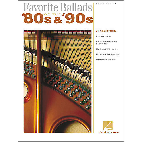 Hal Leonard Favorite Ballads Of The 80's & 90's For Easy Piano