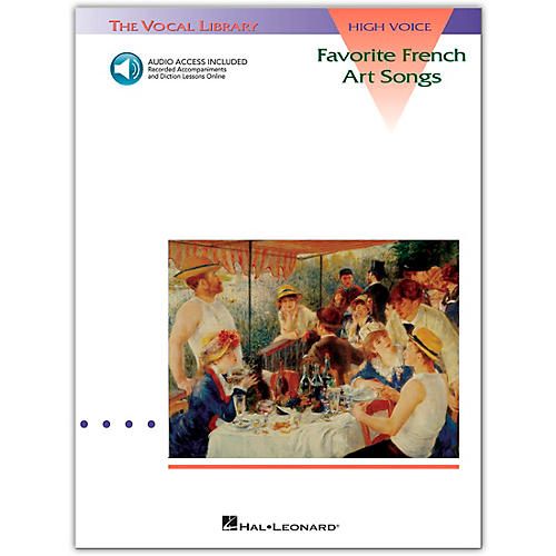 Hal Leonard Favorite French Art Songs for High Voice (Book/Online Audio)-thumbnail