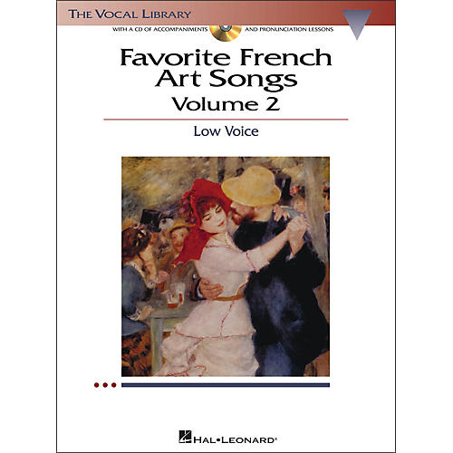 Hal Leonard Favorite French Art Songs for Low Voice Volume 2 Book/CD