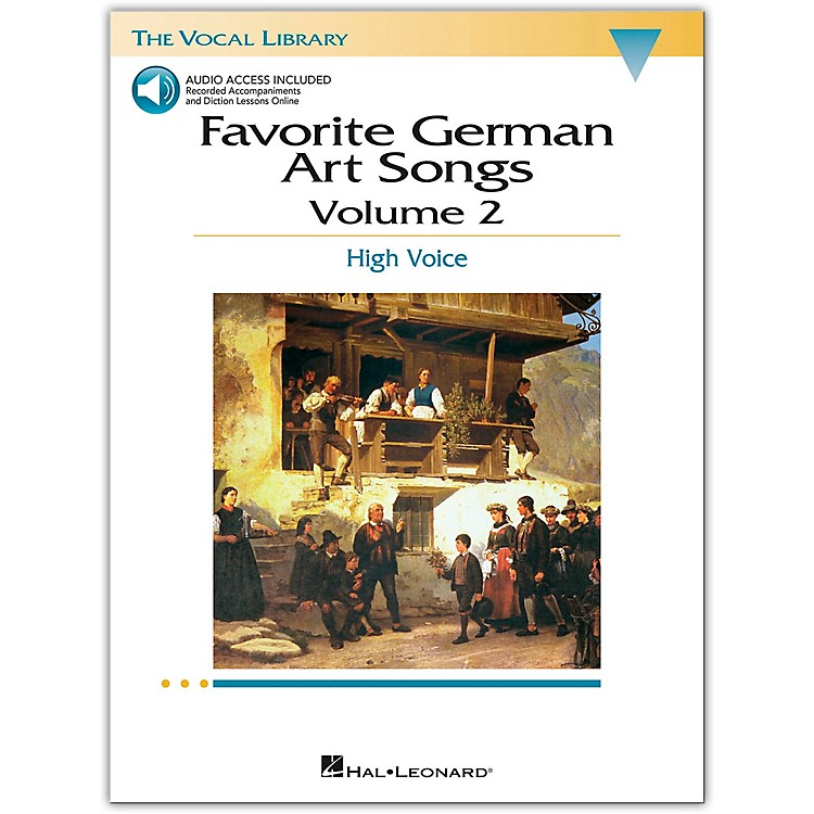 Hal Leonard Favorite German Art Songs for High Voice Volume 2 Book/CD