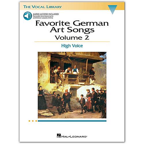 Hal Leonard Favorite German Art Songs for High Voice Volume 2 Book/Online Audio