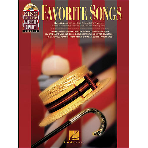 Hal Leonard Favorite Songs - Sing In The Barbershop Quartet Series Vol. 3 Book/CD