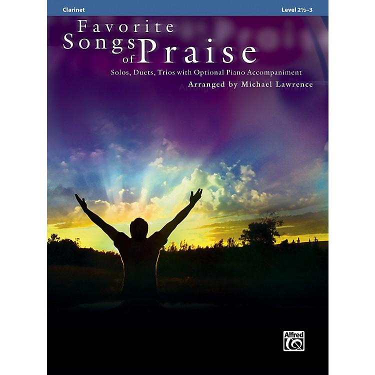 AlfredFavorite Songs of Praise (Clarinet Version)