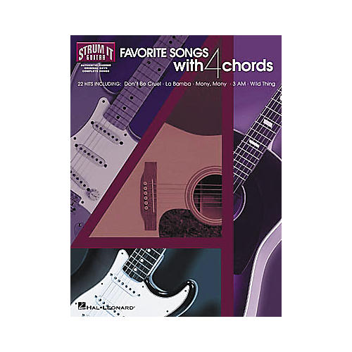 Hal Leonard Favorite Songs with 4 Chords Strum It Guitar Book