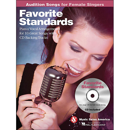 Hal Leonard Favorite Standards - Audition Songs for Female Singers Book/CD