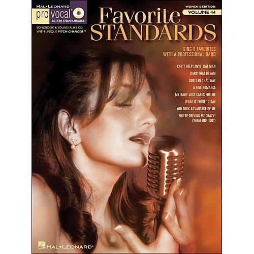 Hal Leonard Favorite Standards - Pro Vocal Songbook & CD for Female Singers Volume 44