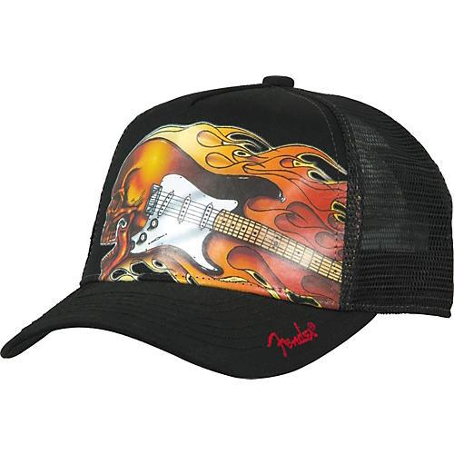 Fender Fearless Screaming Flames Trucker Hat
