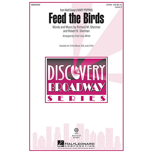 Hal Leonard Feed the Birds (from Mary Poppins) 2-Part arranged by Cristi Cary Miller-thumbnail