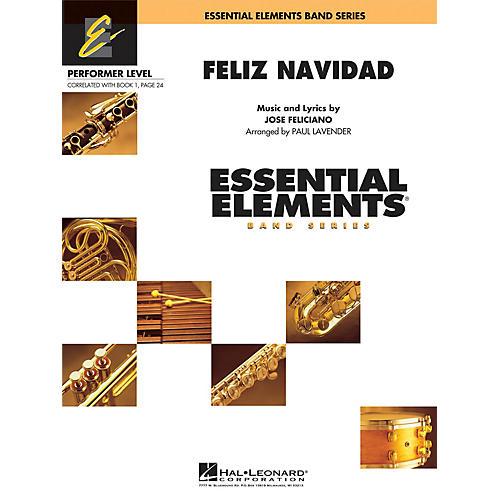 Hal Leonard Feliz Navidad Concert Band Level .5 to 1 by Jose Feliciano Arranged by Paul Lavender-thumbnail