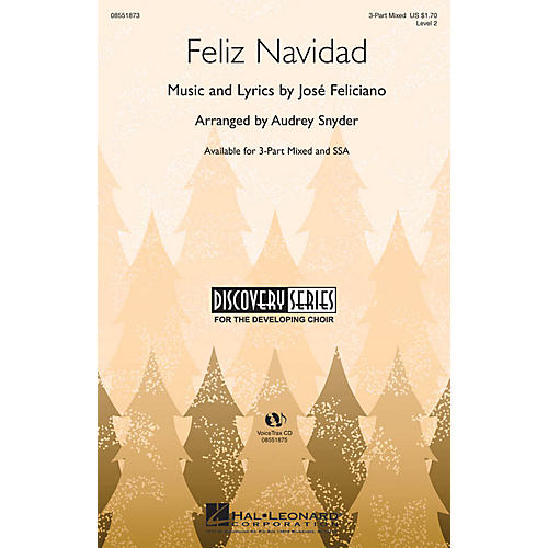 Hal Leonard Feliz Navidad SSA Arranged by Audrey Snyder-thumbnail