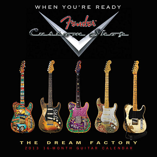 Hal Leonard Fender Custom Shop 2013 16-Month Guitar Wall Calendar