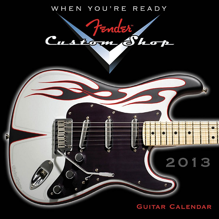 Hal LeonardFender Custom Shop 2013 Mini Wall Guitar Calendar