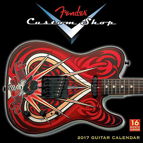 Hal Leonard Fender Custom Shop 2017 16-Month Wall Calendar