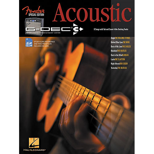 Hal Leonard Fender G-Dec Acoustic Play-Along Guitar Songbook/SD Card-thumbnail