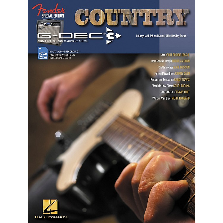 Hal Leonard Fender G-Dec Country Guitar Play-Along Songbook/SD Card