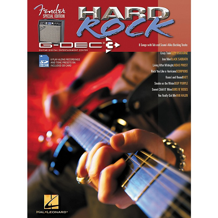Hal Leonard Fender G-Dec Hard Rock Guitar Play-Along Songbook/SD Card