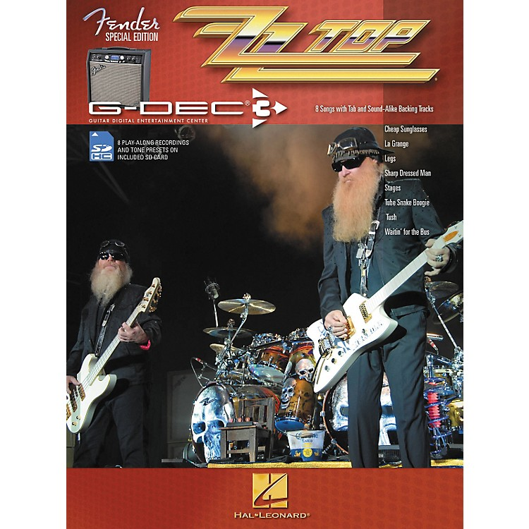 Hal Leonard Fender G-Dec ZZ Top Guitar Play-Along Songbook/SD Card