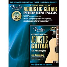 Hal Leonard Fender Presents Getting Started On Acoustic Guitar Premium Pack Book/CD/DVD