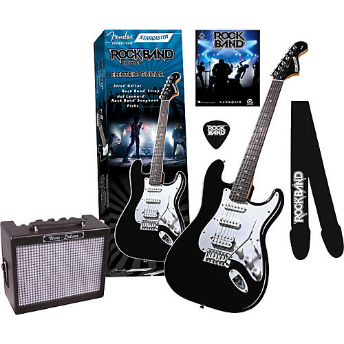 Fender Fender Starcaster Strat Rock Band Electric Guitar and Mini Deluxe Amp Value Pack