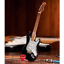Axe Heaven Fender Stratocaster Black Vintage Distressed Miniature Guitar Replica Collectible