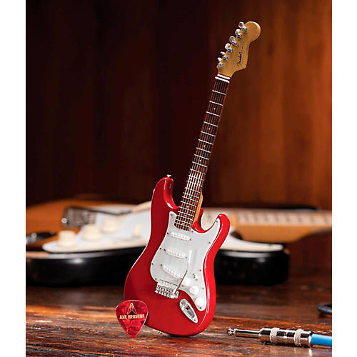 Axe Heaven Fender Stratocaster Classic Red Miniature Guitar Replica Collectible-thumbnail