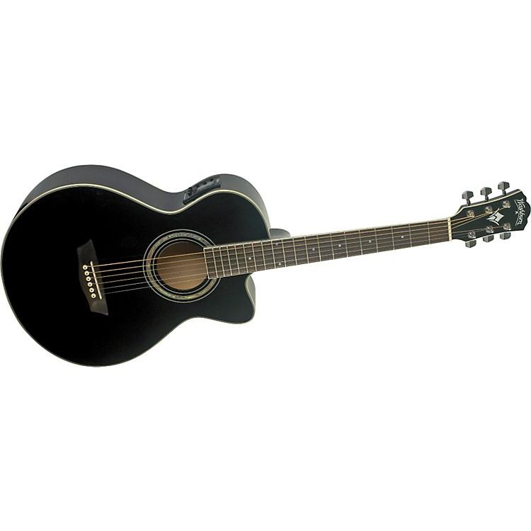 WashburnFestival EA10 Acoustic Cutaway Electric Petite Jumbo Guitar With 4-Band EQ