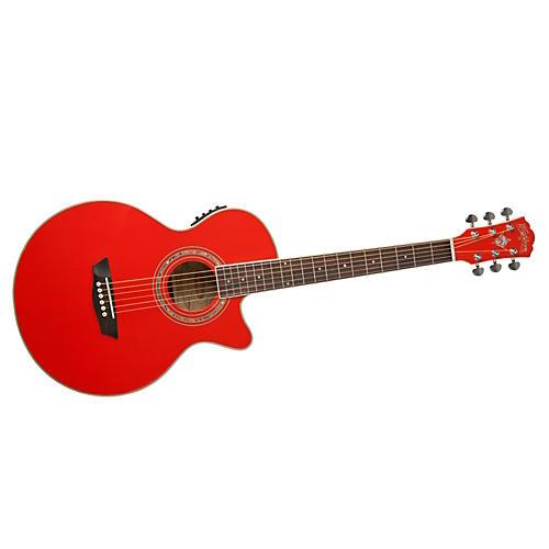 Washburn Festival EA10 Acoustic Cutaway Electric Petite Jumbo Guitar With 4-Band EQ-thumbnail
