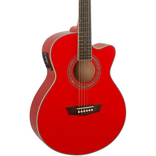 Washburn Festival EA12B Acoustic Electric Mini Jumbo Red