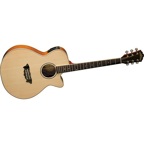 Washburn Festival EA16 Spruce Top Acoustic Cutaway Electric Mahogany Guitar With 4-Band EQ-thumbnail