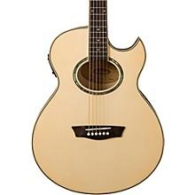 Open BoxWashburn Festival EA20 Spruce Top Acoustic Cutaway Electric Mini Jumbo Flame Maple Guitar with 4-Band EQ